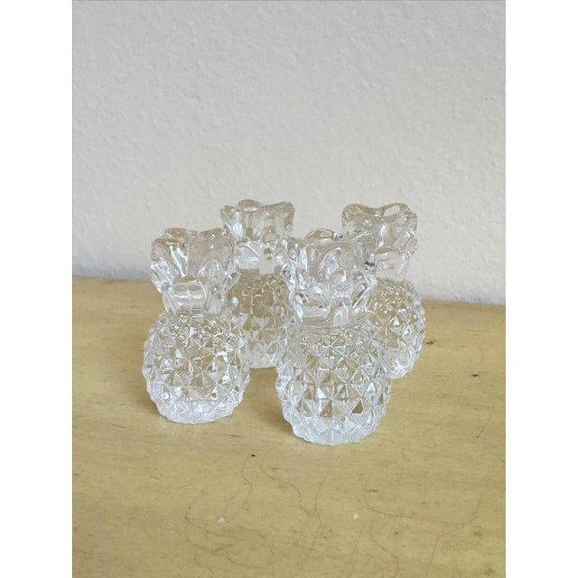 Vintage Crystal Pineapple Candle Holders- Set of 4 - Image 3 of 4