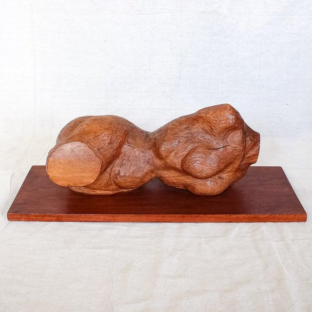 Mid-Century Modern Carved Nude Torso Sculpture - Image 2 of 10