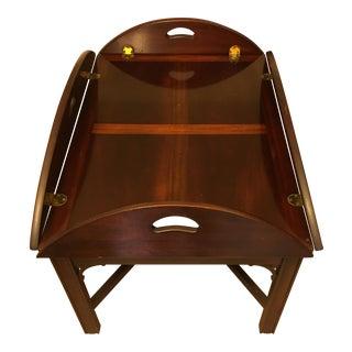 Oval Mahogany Butler Coffee Table