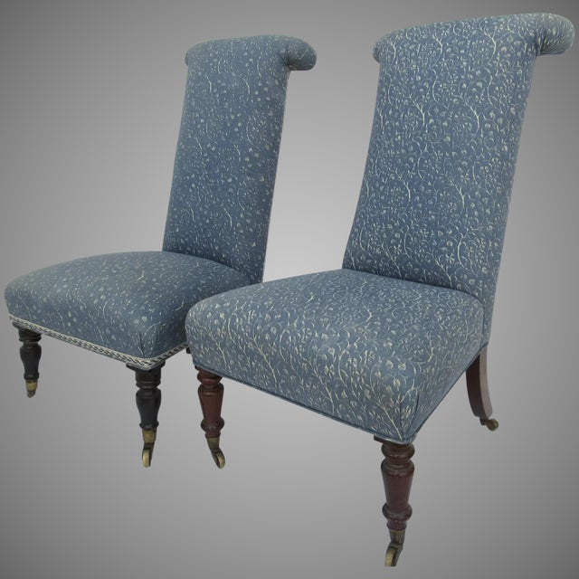 Prie Dieu Style Chairs- a Pair For Sale - Image 9 of 9
