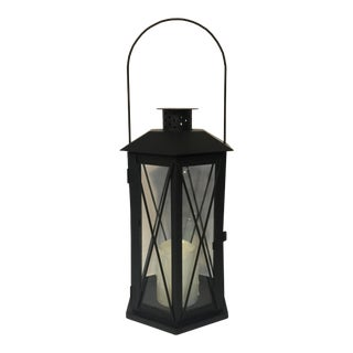 Black Metal Electric Candle Lantern For Sale