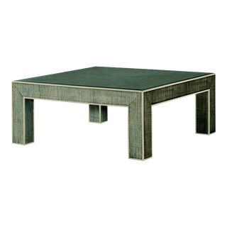 Century Furniture Newport Square Coffee Table, French Grey and Peninsula For Sale
