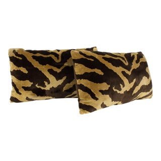"Velvet Tiger "" Le Tigre"" Print Pillows - Set of 2"