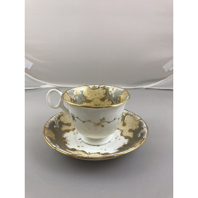 1900s Traditional Teacup and Saucer - 2 Pieces For Sale - Image 4 of 6