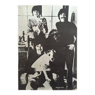 "1960s Vintage ""Three Dog Night"" Rock & Roll Large Collector's Poster For Sale"