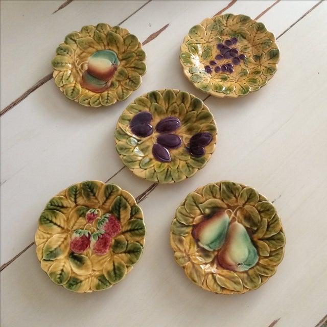 French Sarreguemines Majolica Plates - Set of 5 - Image 2 of 11