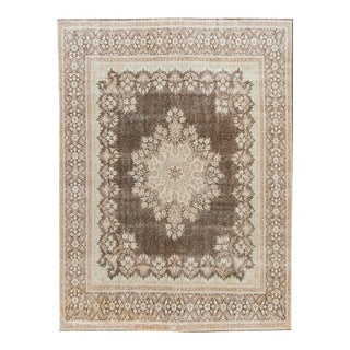 Early 20th Century Vintage Medallion Wool Rug For Sale