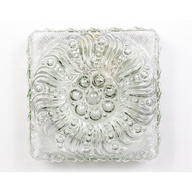 Mid-Century Radial Bloom Glass Flush Mount For Sale - Image 12 of 12