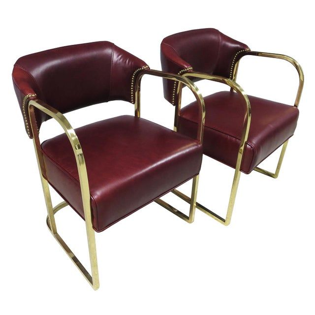 This fantastic pair was just restored by our team of professionals. The square tubular brass frames were high polished and...
