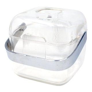 Vintage Acrylic Guzzini Ice Bucket For Sale
