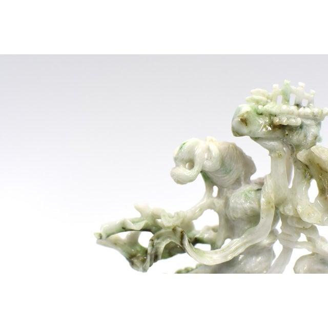 Asian Exquisite Jadeite Jade Fairy Statue For Sale - Image 3 of 13