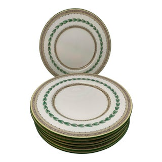 Vintage 1930s Minton Ashbourn Salad Plates - Set of 7 For Sale
