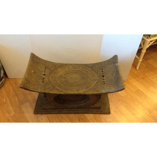 African Early 20th Century Ashanti Chief's Bench For Sale - Image 3 of 11