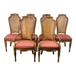 Vintage Drexel Heritage Sketchbook Dining Chairs - Set of 6 For Sale