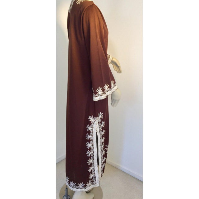 Moroccan Artist Moroccan Caftan, Maxi Dress Kaftan, 1970 Size Small For Sale - Image 4 of 13