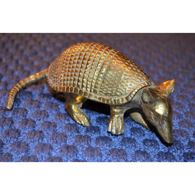 Vintage Solid Brass Armadillo Figurine - Image 8 of 11