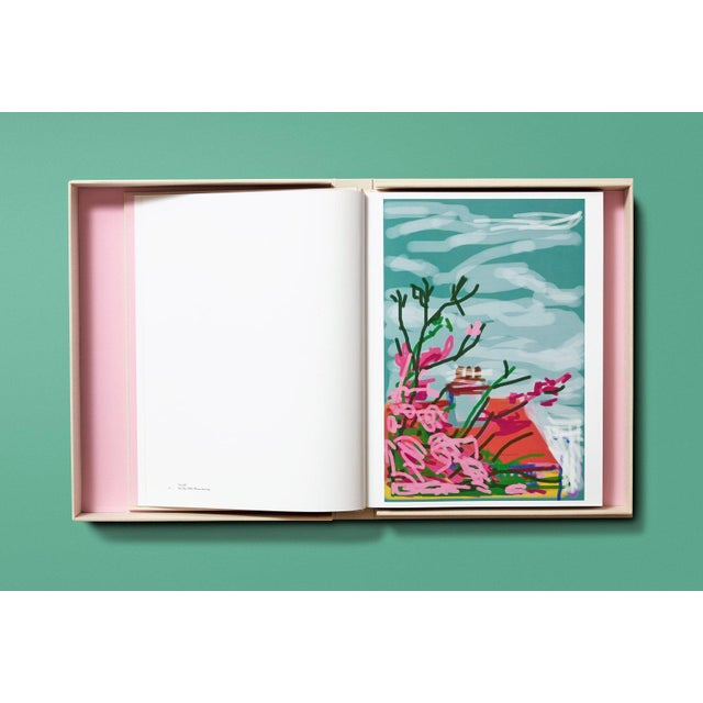 """TASCHEN TASCHEN Books Autographed David Hockney """"My Window"""" Painting Collection, Collectors Edition For Sale - Image 4 of 8"""