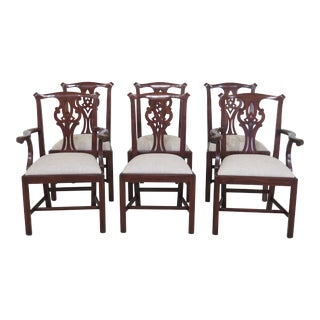 Henkel Harris Model 101 Chippendale Dining Room Chairs - Set of 6 For Sale