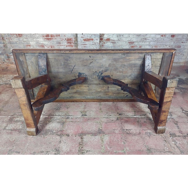 1960s Spanish Colonial Gorgeous Walnut Dining Table For Sale - Image 9 of 10