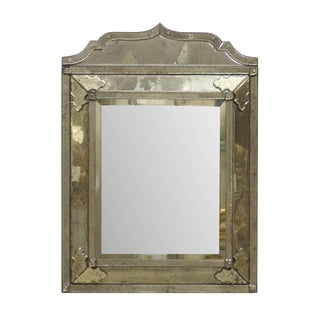 """A """"Milano"""" Venetian Style Hand-Silvered Mirror With Raised Central Panel For Sale"""