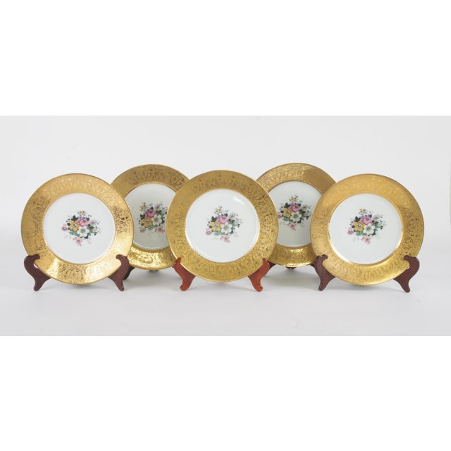Bavarian Hutchenreuther Gilt Encrusted Plates - Set of 12 For Sale - Image 4 of 9