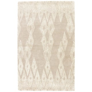 Nikki Chu by Jaipur Living Mulberry Handmade Geometric Gray/ Cream Area Rug - 2′ × 3′