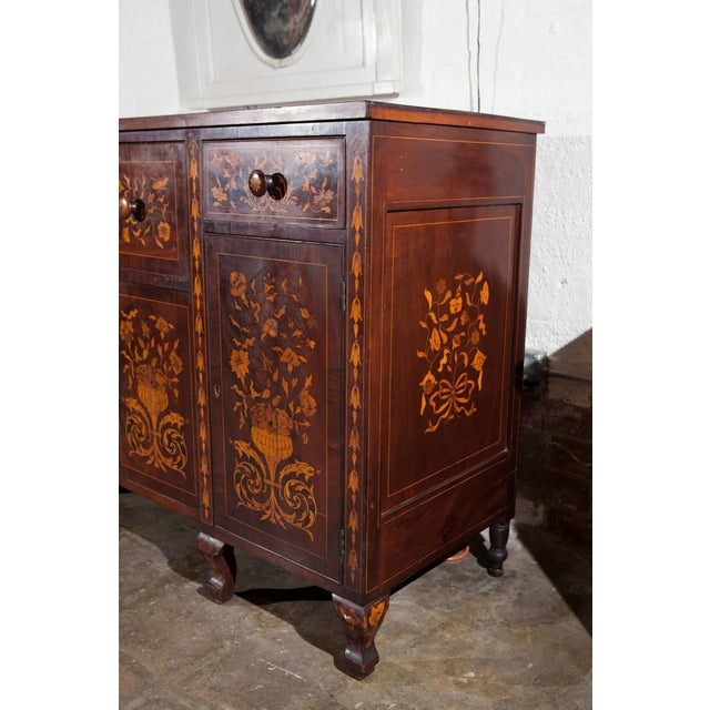 Dutch Marquetry Cabinet or Fall Front Desk - Image 7 of 7