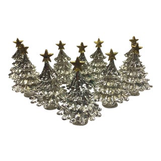 Christmas Tree Place Card Holders - Set of 10 For Sale