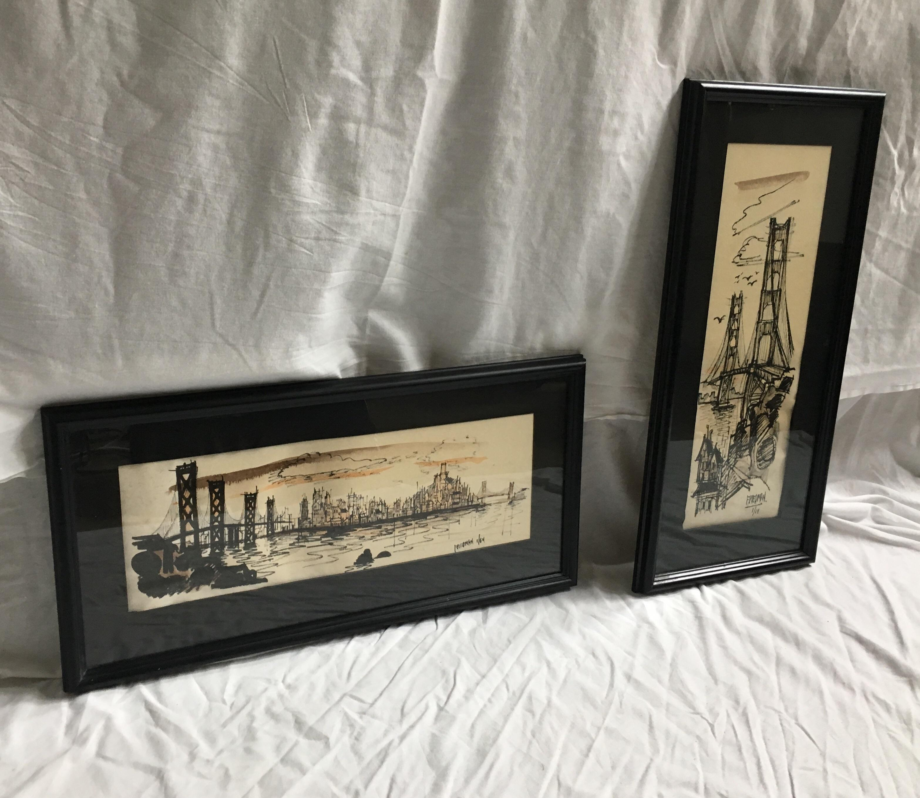 San Francisco Prints By John Irwin Friedman   A Pair   Image 2 Of 10