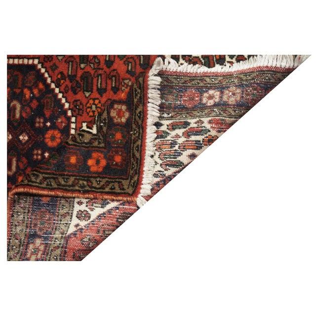 Vintage Persian Hamedan Rug - 3'4'' x 4'8'' For Sale - Image 4 of 4