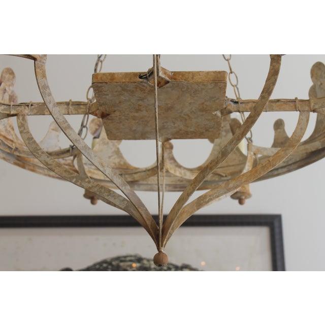 Handmade & Hand Painted Crown Chandelier - Image 4 of 6