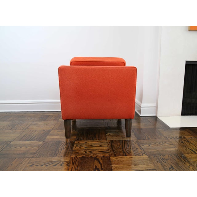 Mid 20th Century Mid-Century Modern Edward Wormley for Dunbar Club Chairs - a Pair For Sale - Image 5 of 8
