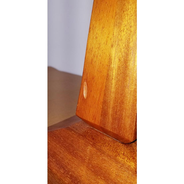 Teak Mid-Century Teak Table Lamps With Original Shades - a Pair For Sale - Image 7 of 9