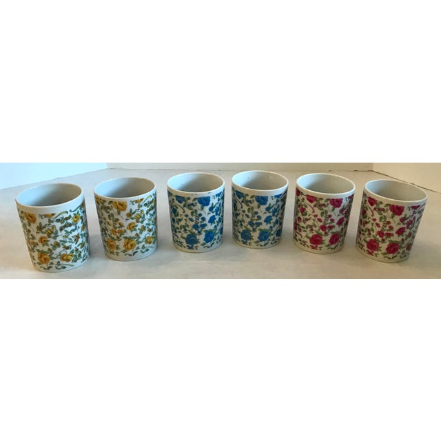 Vintage Japanese Ceramic Tea or Coffee Mugs - Set of 6 For Sale - Image 11 of 12
