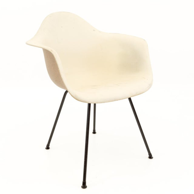 Mid-Century Modern Eames for Herman Miller Molded Plastic X-Base Shell Chairs - a Pair For Sale In Chicago - Image 6 of 11