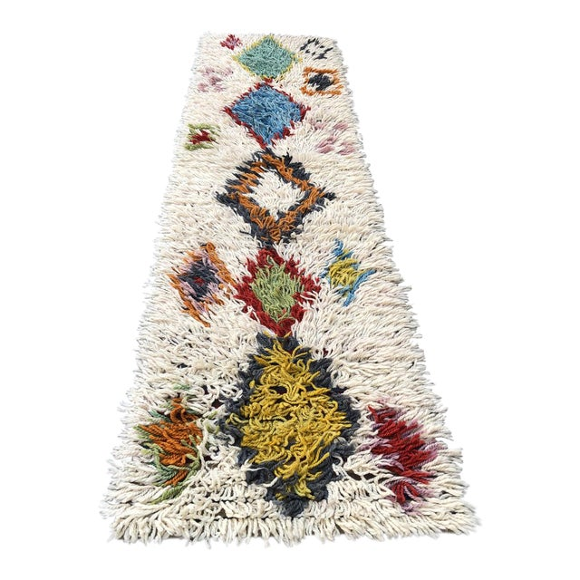 1970s Vintage Hand-Knotted Turkish Runner Rug - 2′9″ × 12′ For Sale