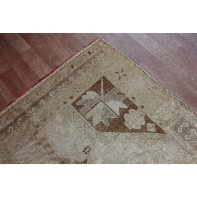 Brown Vintage Turkish Oushak Rug - 4′4″ × 9′6″ For Sale - Image 8 of 11
