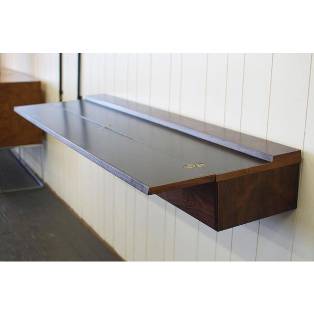 Flip Top Rosewood Console by Arne Hovmand-Olsen For Sale - Image 4 of 8