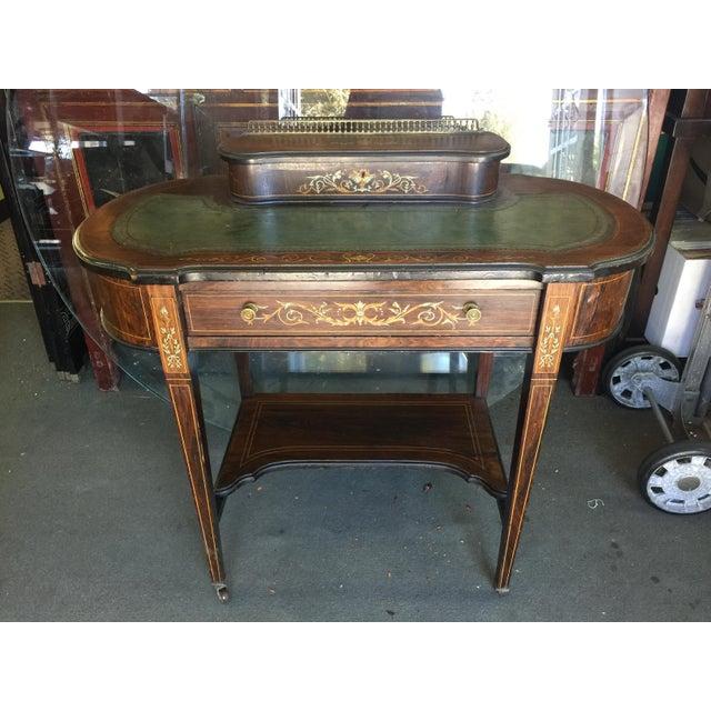 Inlaid Edwardian Desk For Sale - Image 13 of 13