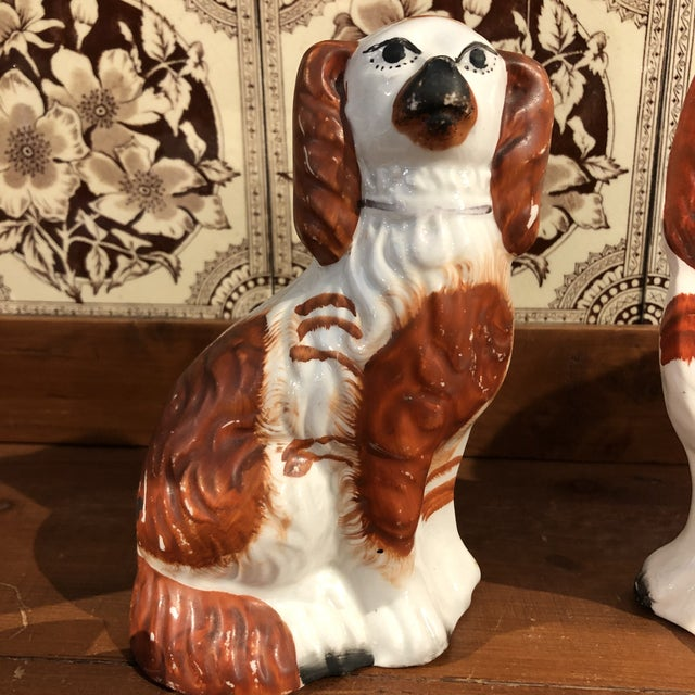 Antique Staffordshire Dog Figurines - a Pair For Sale In Boston - Image 6 of 8