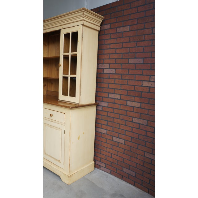 20th Century Cottage Farmhouse China Hutch For Sale - Image 4 of 11