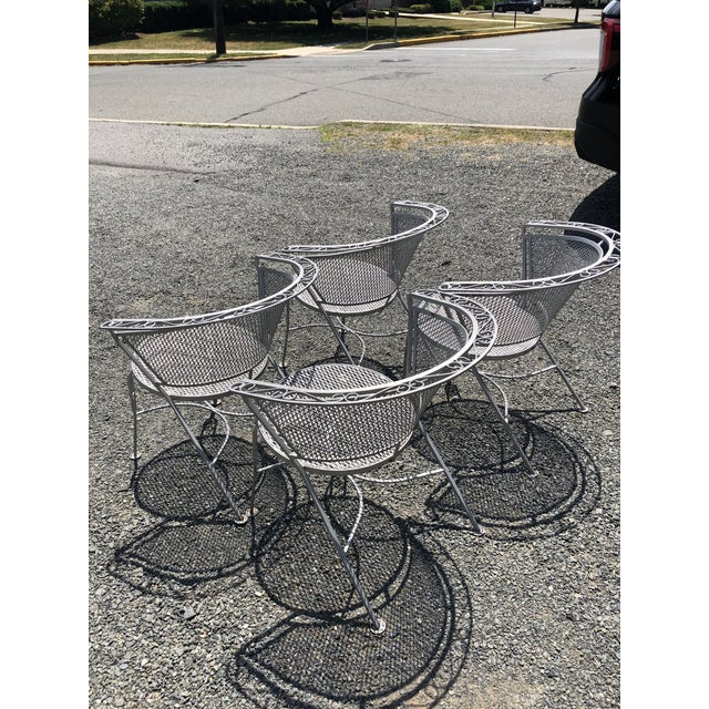 Mid Century Modern Woodard Round Outdoor Dining Set For Sale - Image 9 of 12