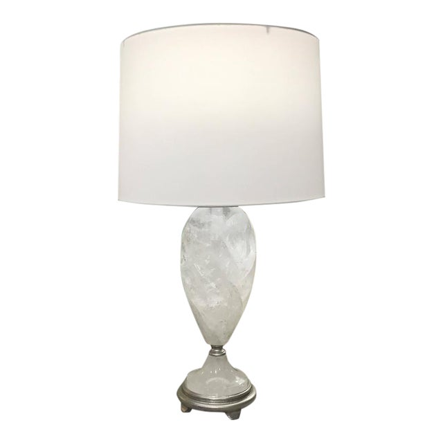 Brazilian Rock Crystal Urns Table Lamps - A Pair For Sale - Image 10 of 10
