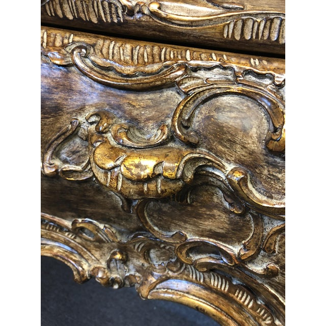 Italian Carved Giltwood Bombay Chest Commode For Sale In Philadelphia - Image 6 of 13