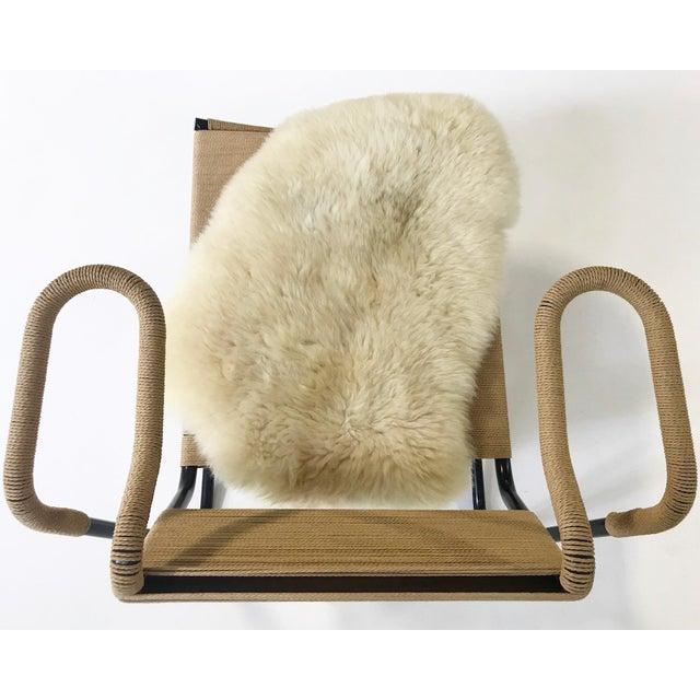 2000s Dan Johnson for California Living Model 2750 Lounge Chair With Brazilian Sheepskin For Sale - Image 5 of 9