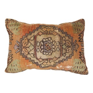 """Vintage Lumbar Rug Pillow Cover - 15""""x21"""" For Sale"""