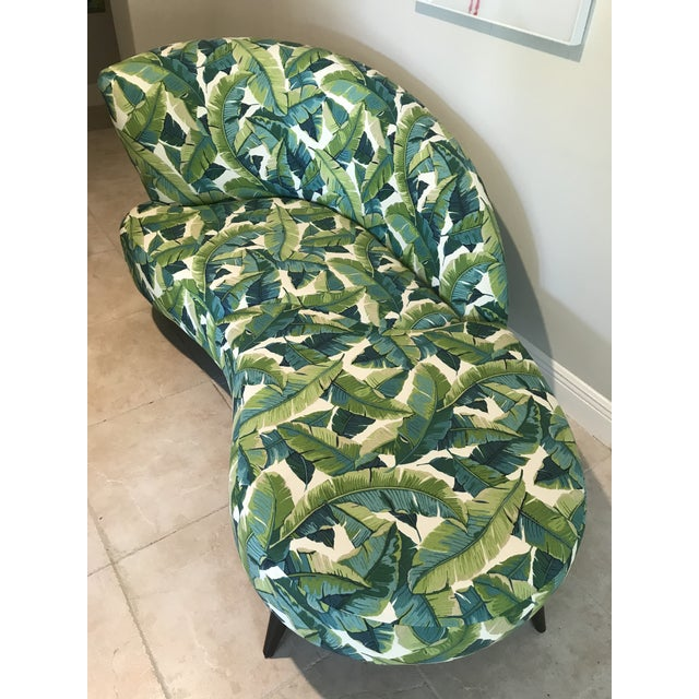 Hollywood Regency Palm Beach Chaise Lounge One of a Kind For Sale - Image 3 of 13