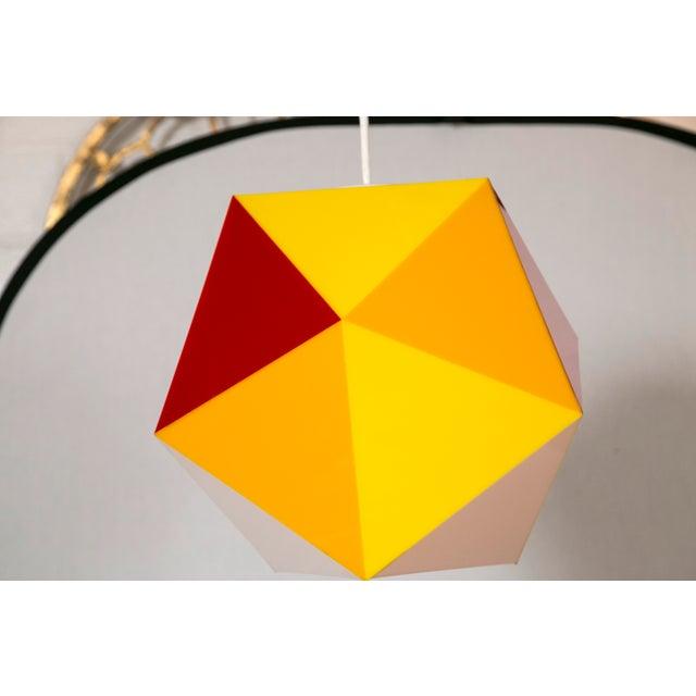 Geodesic Yellow & Orange Acrylic Pendant Light - Image 5 of 6