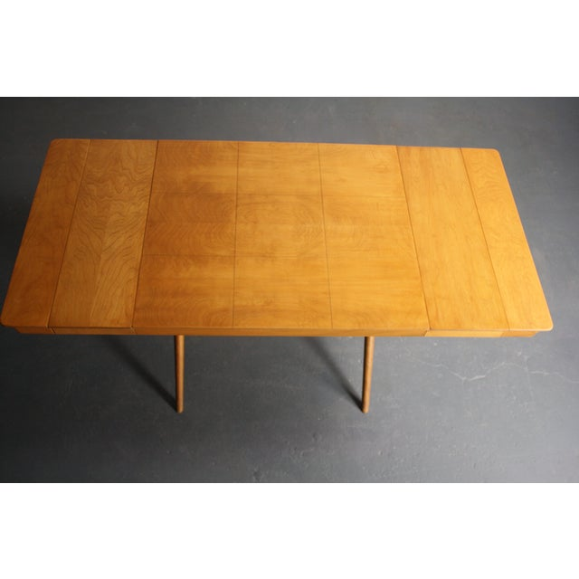 Walnut Dining Table X Base, Manner of Widdicomb For Sale - Image 7 of 10