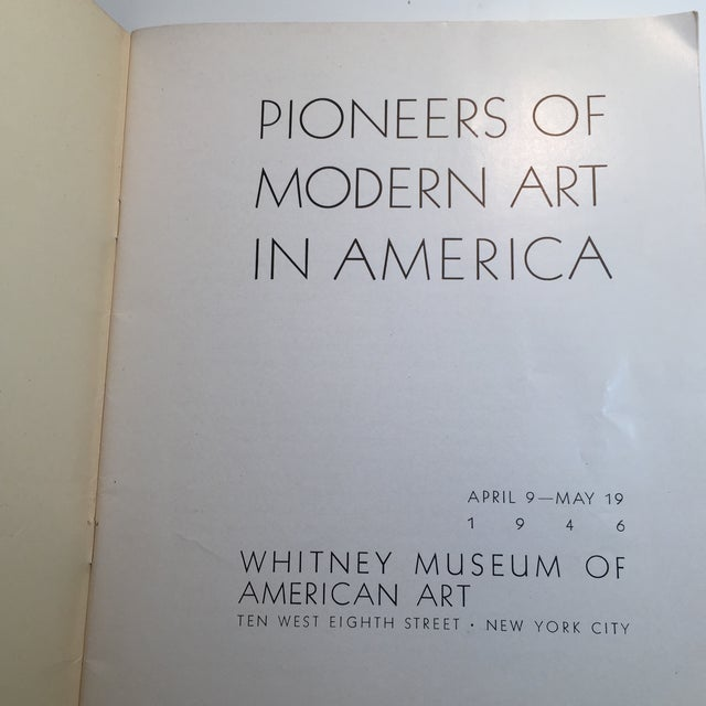 "Boho Chic ""Pioneers of Modern Art in America"" 1946 Book For Sale - Image 3 of 11"